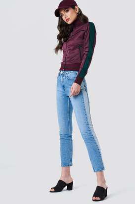 Na Kd Trend Two Tone Side Panel Jeans Light Blue