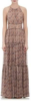 L'Agence WOMEN'S PENELOPE CHIFFON SLEEVELESS MAXI DRESS