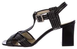 Marc by Marc Jacobs Patent Leather T-Strap Sandals