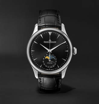 Jaeger-LeCoultre Master Ultra Thin Moon Automatic 39mm Stainless Steel And Leather Watch