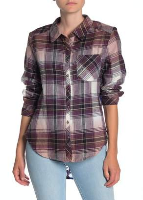 ARATTA So Divine Plaid Print Flannel Shirt
