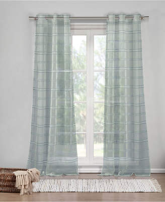 "Duck River Textile Hampstead 40"" x 84"" Sheer Stripe Curtain Set"
