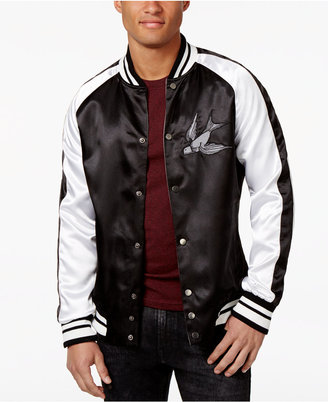 Inc International Concepts Men's Reversible Satin Souvenir Bomber, Created for Macy's $129.50 thestylecure.com