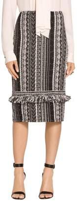St. John Fringe Vertical Ombre Stripe Tweed Skirt
