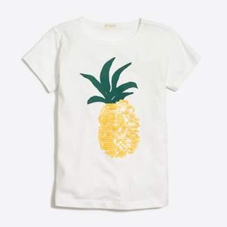 J.Crew Factory Girls' sequin pineapple graphic T-shirt