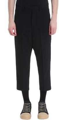 Rick Owens Black Viscose Pants