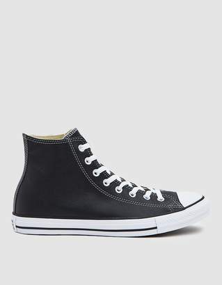 Converse Chuck Taylor All Star Leather Sneaker in Black