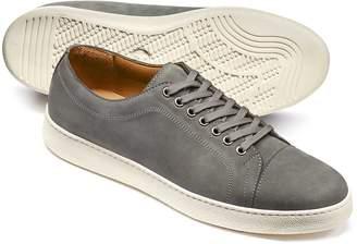 Charles Tyrwhitt Light Grey Nubuck Leather Toe Cap Sneakers Size 12