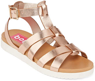 POP Womens Alpha Adjustable Strap Flat Sandals