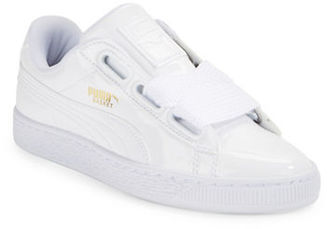 Puma Basket Heart Patent Sneakers $85 thestylecure.com