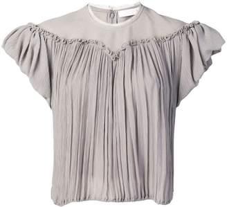 Chloé pleated design blouse