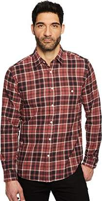 7 For All Mankind Men's Long Sleeve Brushed Plaid Shirt