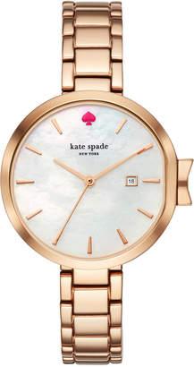 Kate Spade Women's Park Row Rose Gold-Tone Stainless Steel Bracelet Watch 34mm KSW1323