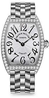 Franck Muller Women's Cintree Curvex 39MM Stainless Steel & Diamond Bracelet Watch