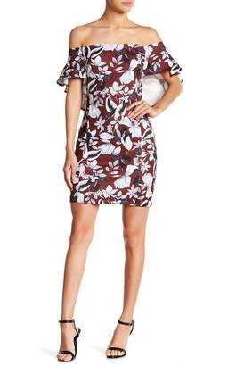 Alexia Admor Floral Print Off-the-Shoulder Dress