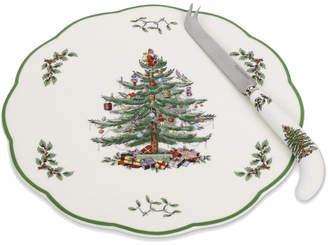 Spode Appetizer Plate With Cheese Knife