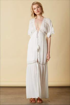 Cotton Candy Short-Sleeve Maxi Dress
