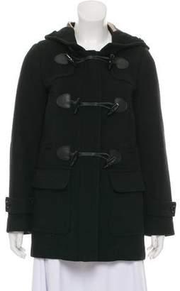 Burberry Wool Hooded Coat