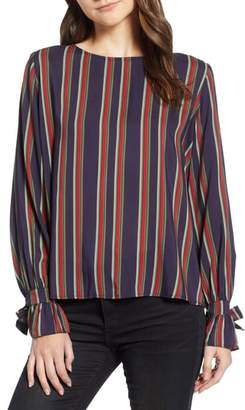 Velvet by Graham & Spencer School Stripe Tie Sleeve Top