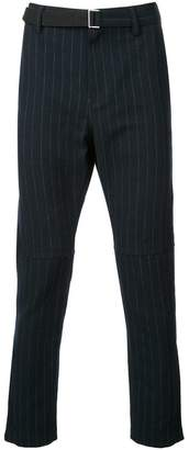Sacai belted pinstripe trousers