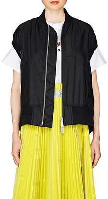 Sacai Women's MA-1 Tech-Fabric Swing Vest - Black