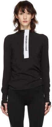 Paco Rabanne Black Bodyline Zip Pullover