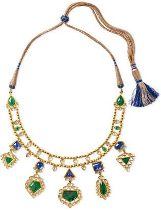 Amrapali 18-karat Gold Multi-stone Necklace - one size