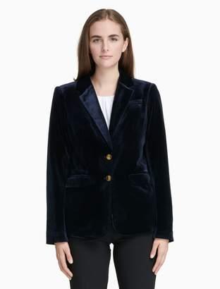 Calvin Klein velvet notch lapel 2-button jacket