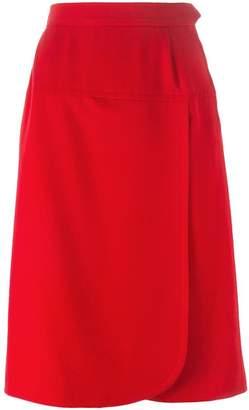 Saint Laurent Pre-Owned wrap front skirt