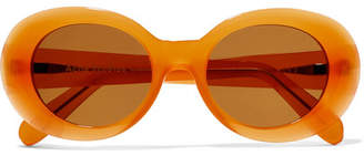 Acne Studios Mustang Round-frame Acetate Sunglasses - Orange