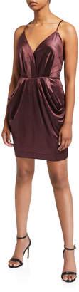 BCBGeneration Draped-Pocket Racerback Dress