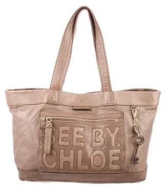 See by Chloe Metallic Leather Bag