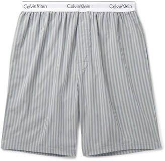 Calvin Klein Underwear Striped Cotton-Poplin Pyjama Shorts