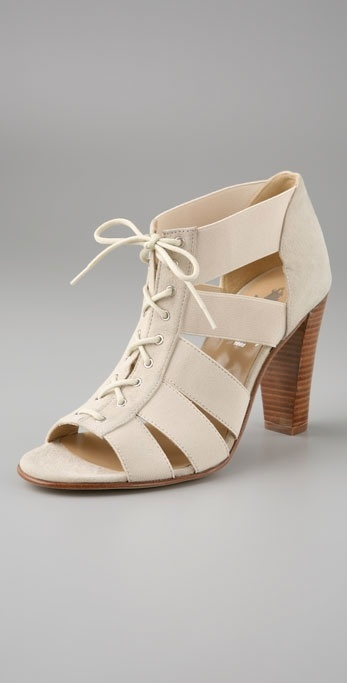 Opening Ceremony Elastic Lace Up Sandals