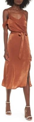 Women's J.o.a. Cold Shoulder Midi Dress $85 thestylecure.com