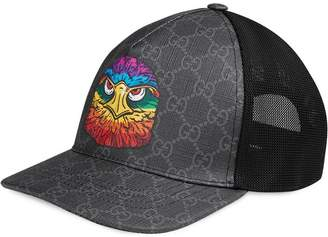 49551aec900 Gucci GG Supreme baseball hat with eagle