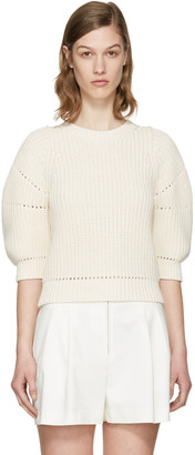 3.1 Phillip Lim Ecru Cotton Sweater $350 thestylecure.com