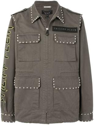 Philipp Plein multi-pocket jacket
