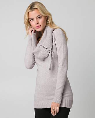 Le Château Brushed Viscose Blend Tunic Sweater