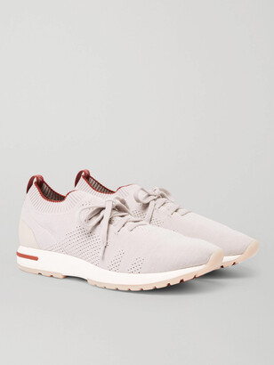 Loro Piana 360 Flexy Walk Leather-Trimmed Wish Wool Sneakers