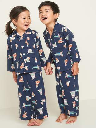 Old Navy Patterned Twill Pajama Set for Toddler & Baby