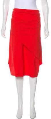 Fendi Wool Draped Skirt