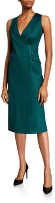 Giorgio Armani Sleeveless Techno-Jersey Blazer Dress