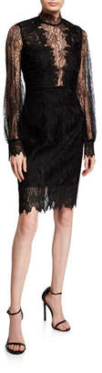 Bardot Clarissa Lace High-Neck Cocktail Dress