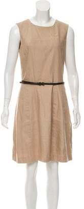 MICHAEL Michael Kors Linen-Blend Sleeveless Dress
