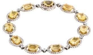 18K Heliodor & Diamond Link Bracelet