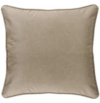 Hiend Accents Silverado Faux Leather 27x27 Euro Sham Bedding