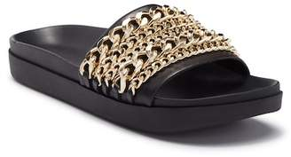 KENDALL + KYLIE Kendall & Kylie Shiloh Chain Leather Slide Sandal