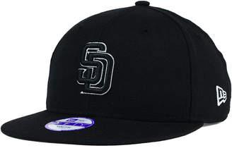 New Era Kids' San Diego Padres Black White 9FIFTY Snapback Cap