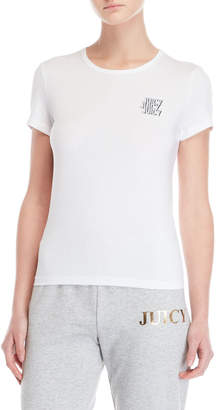 Juicy Couture White Triple Juicy Graphic Tee